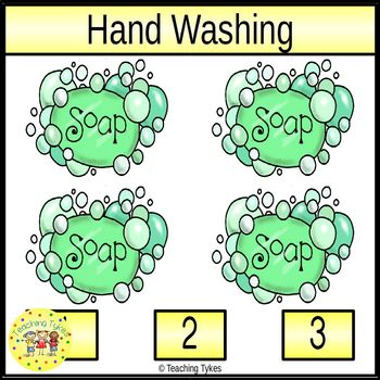 Handwashing Count and Clip Task Cards