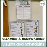 Handwashing, Hygiene and Cleaning Schedules & Visuals for