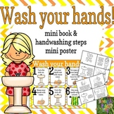 Handwashing Steps- Social Story Mini Book and Mini Poster