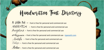 Handwriten Fonts included for FREE with this Font Directory - 44 Free Fonts