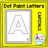 Capital Letter Dot Painting