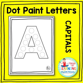 Capital Letter Dot Painting