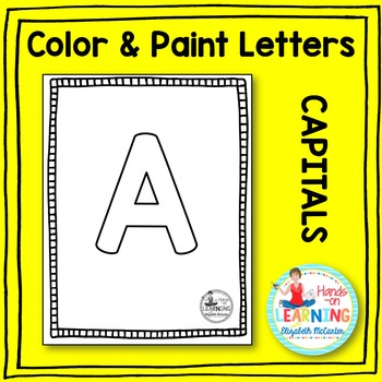 Capital Letter Coloring