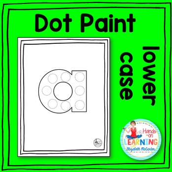 Lower Case Letter Dot Painting