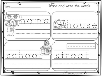 Print Handwriting: Nouns Worksheets and Strips