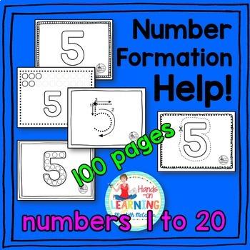 Number Handwriting Activities BUNDLE