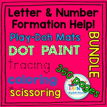 Letter and Number Handwriting BUNDLE
