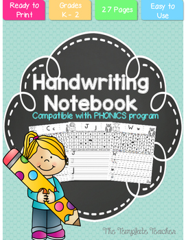 Handwriting A-Z No Prep Notebook for Grades K - 2