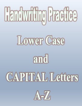Handwriting A to Z Practice Sheets