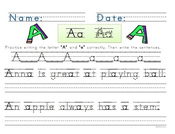 Handwriting ABC Practice