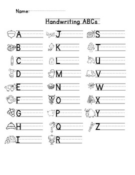 FREE Uppercase and Lowercase Handwriting