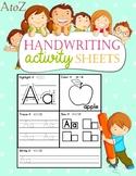 Handwriting Activity Sheets, ABC Practice. No prep
