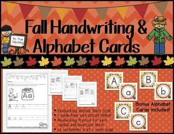 Handwriting & Alphabet Cards: Fall Themed