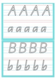 Handwriting Alphabet Cards Write and Wipe QLD Beginners