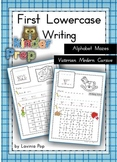 Handwriting - Alphabet Mazes {Lowercase Letters} Vic. Modern Cursive font