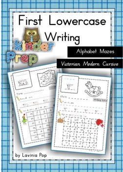 Handwriting - Alphabet Mazes {Lowercase Letters} Vic. Mode