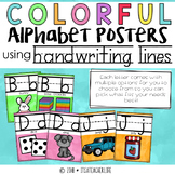 Handwriting Alphabet Posters | Colorful