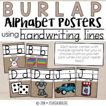 Handwriting Alphabet Posters | Burlap