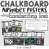Handwriting Alphabet Posters | Chalkboard