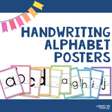 Editable Handwriting Alphabet Posters : Formation of Tall, Short, Long Letters