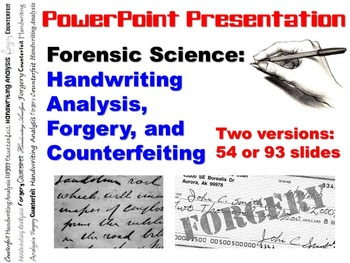 Handwriting Analysis, Forgery, & Counterfeiting PowerPoint Presentation