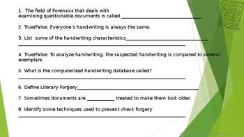 Handwriting Analysis Warm-up