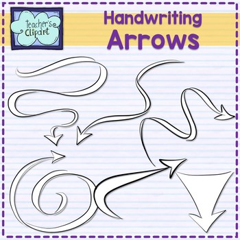 Handwriting Arrows and Pointers Clip art {60 IMAGES}