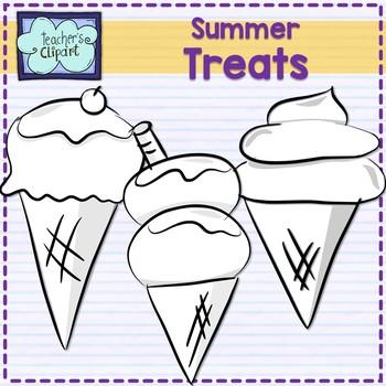 Summer treats Clip art  - Icecream and cones