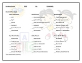 Handwriting Assessment Form