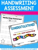 Handwriting Assessment and Certificate Freebie