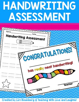 Handwriting Assessment and Certificate Freebie