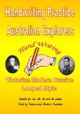 Handwriting Australian Explorer's Themed Passages - Victoria Modern Cursive