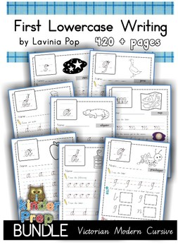 Handwriting - BUNDLE Lowercase Letters {Victorian Modern Cursive}