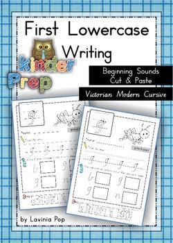Handwriting - Beginning Sounds Cut & Paste {Lowercase Letters} Vic. Mod. Cursive