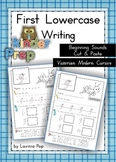 Handwriting - Beginning Sounds Cut & Paste {Lowercase Letters} Vic. Mod. Cursive