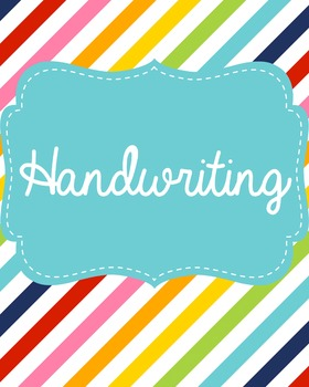 Handwriting Binder Cover