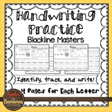 Handwriting - Blackline Masters - Tracing and Writing - Up