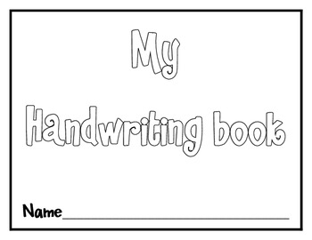 Handwriting Book {All Uppercase and Lowercase letters AND numbers 1-20!}