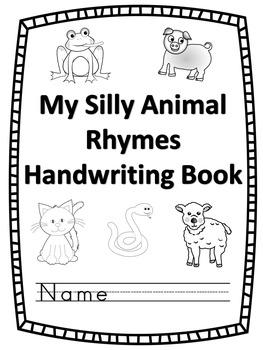 Handwriting Book - My Silly Animal Rhymes