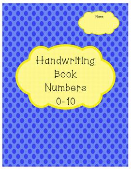 Handwriting Book Numbers 0-10