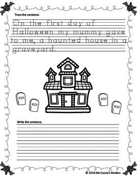 Halloween Handwriting Book - Twelve Days of Halloween