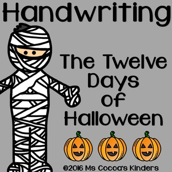 Halloween Handwriting Book - Twelve Days of Halloween