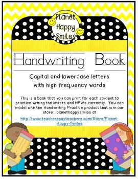 Handwriting Book (letters and HFW)