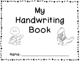 Handwriting Practice Book - letters, words, sentences