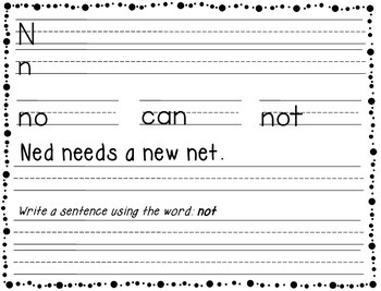 Handwriting Practice Book - letters, words, sentences