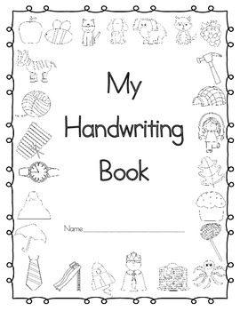 Handwriting Booklet Cover Page