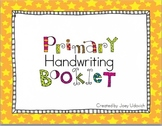 Handwriting Booklet for Early Learners