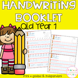 Handwriting Booklets - Year 1 Queensland Font