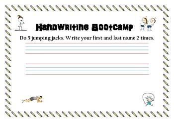 Handwriting Bootcamp