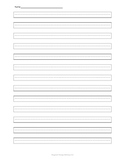 Handwriting Boundary Paper with dashed lines 1cm.